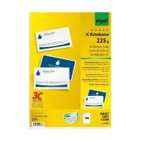 Bild Visitenkarten, 3C, glatter Schnitt rundum, 225 g/qm, hochweiß, 100 Stück