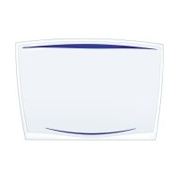 Bild Schreibunterlage Ice Blue - 65 x 45 cm, blau-transparent