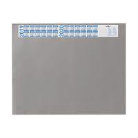 Bild Schreibunterlage mit Jahreskalender, PVC, 650 x 520 mm, 2 mm, grau