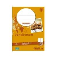 Bild Vokabelheft LIN53 A6 32 Blatt 80g/qm liniert mit 1 MST