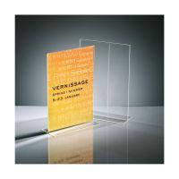 Bild Tischaufsteller, gerade, glasklar, für A4