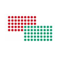 Bild Moderationsklebepunkt, Kreis, 19 mm, rot und grün, 500 Stück je Farbe