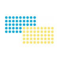 Bild Moderationsklebepunkt, Kreis, 19 mm, blau und gelb, 500 Stück je Farbe
