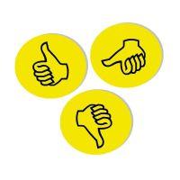 Bild Moderationskarte Wertungssymbol, Daumen, gelb, 100 Stück