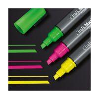 Bild Kreidemarker 50 - Keilspitze, 1-5 mm, pink / grün / gelb
