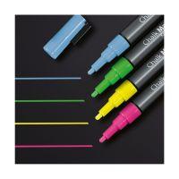 Bild Kreidemarker 20 - Rundspitze 1-2 mm, pink / gelb / grün / blau, 4 Stück
