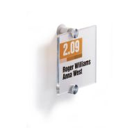Bild Türschild CRYSTAL SIGN, 105 x 105 mm, transparent