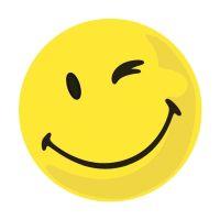 Bild Moderationskarte Wertungssymbol, Gesicht positiv, gelb, 100 Stück