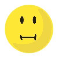 Bild Moderationskarte Wertungssymbol, Gesicht neutral, gelb, 100 Stück