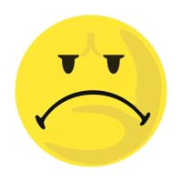 Bild Moderationskarte Wertungssymbol, Gesicht negativ, gelb, 100 Stück
