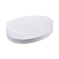 Bild Moderationskarte, Oval, 190 x 110 mm, weiß, 500 Stück