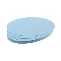 Bild Moderationskarte, Oval, 190 x 110 mm, hellblau, 500 Stück