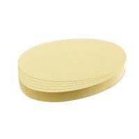 Bild Moderationskarte, Oval, 190 x 110 mm, gelb, 500 Stück