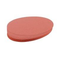Bild Moderationskarte, Oval, 190 x 110 mm, rot, 500 Stück