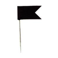 Bild Markierfahne, 35 x 18 mm, schwarz, Dose 20 Stück