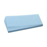Bild Moderationskarten - selbsthaftend, rechteckig, 20,5 x 9,5 cm, blau, 100 Stück