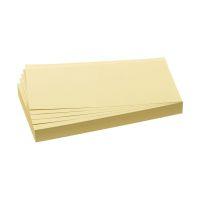 Bild Moderationskarten - selbsthaftend, rechteckig, 20,5 x 9,5 cm, gelb, 100 Stück