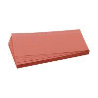 Bild Moderationskarten - selbsthaftend, rechteckig, 20,5 x 9,5 cm, rot, 100 Stück