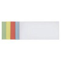 Bild Moderationskarten - selbsthaftend, rechteckig, 20,5 x 9,5 cm, sortiert, 100 Stück