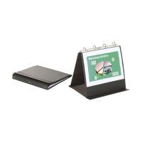 Bild Tischflipchart Economy - A4 quer, schwarz, mit 20 Hüllen