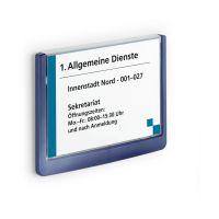 Bild Türschild CLICK SIGN, Rahmen dunkelblau, 149 x 105,5 mm, transparent