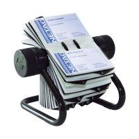 Bild VISIFIX® Rollkartei, inkl. 200 Hüllen und 25tlg. Register, für 400 Visitenkarten 104 x 72 mm