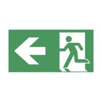 Bild Schild Rettungsweg links selbstklebend