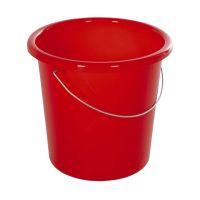 Bild Eimer - Plastik, rund, 10 Liter, rot