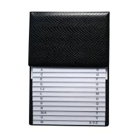 Bild Telefon-Klappregister - schwarz, 160 x 230 mm