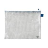 Bild Reißverschlusstaschen - transparent/blau, A4, 355 x 270 mm