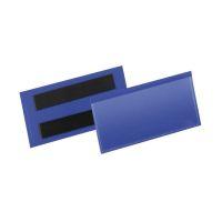 Bild Kennzeichnungstasche - magnetisch, 100 x 38 mm, PP, dokumentenecht, dunkelblau, 50 Stück