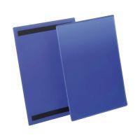 Bild Kennzeichnungstasche - magnetisch, A4 hoch, PP, dokumentenecht, dunkelblau, 50 Stück