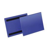 Bild Kennzeichnungstasche - magnetisch, A4 quer, PP, dokumentenecht, dunkelblau, 50 Stück