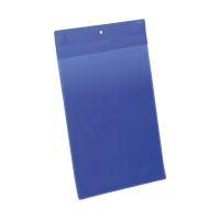 Bild Kennzeichnungstasche - magnetisch, A4 hoch, PP, dokumentenecht, dunkelblau, 10 Stück