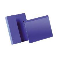 Bild Kennzeichnungstasche mit Falz - A6 quer, dunkelblau, 50 Stück