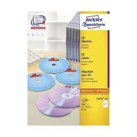 Bild L7676-100 CD-Etiketten, Ø 117 mm, 100 Blatt/200 Etiketten, weiß