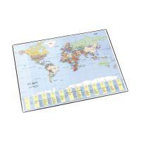 Bild Landkarten-Schreibunterlage - 53 x 40 cm, WELTKARTE POLITISCH