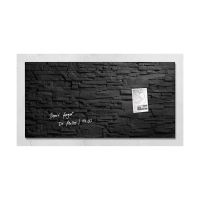 Bild Glas-Magnetboard artverum®, Design Schiefer-Stone, 91 x 46 cm