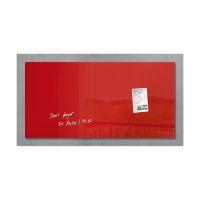 Bild Glas-Magnetboard artverum®, rot, 91 x 46 cm