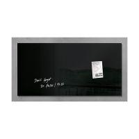 Bild Glas-Magnetboard artverum®, schwarz, 91 x 46 cm