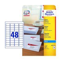 Bild J4791-25 Adress-Etiketten - 45,7 x 21,2 mm, weiß, 1.200 Etiketten/25 Blatt, permanent, Absender-Etikett