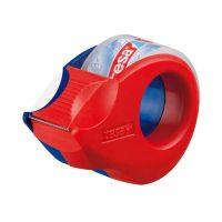 Bild tesa® Mini Abroller, 10 m x 19 mm, rot-blau, inkl.  Rolle kristall-klar