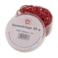 Bild Gummiringe - Ø25 mm, Dose mit 25g, rot