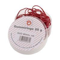 Bild Gummiringe - Ø40 mm, Dose mit 25g, rot