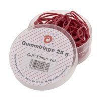 Bild Gummiringe - Ø50 mm, Dose mit 25g, rot