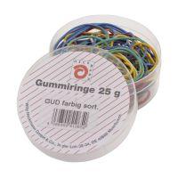 Bild Gummiringe - farbig sortiert, Dose mit 25g