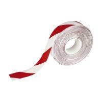 Bild Warnmarkierungsband - 50mm x 30m, selbstklebend, rot/weiß