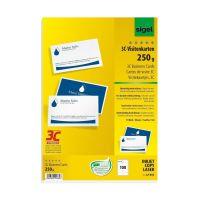 Bild Visitenkarten - A4, 100 Stück, beidseitig weiß