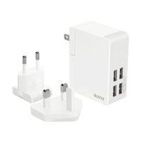 Bild Complete Reisenetzteil USB - 24 Watt, 4 USB-Ausgänge, weiß