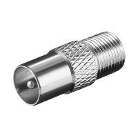 Bild F-Adapter: F-Buchse > Koax-Stecker